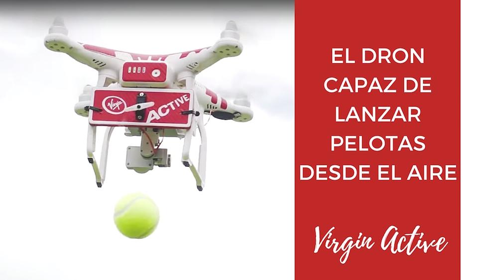 dron capaz de lanzar pelotas desde el aire