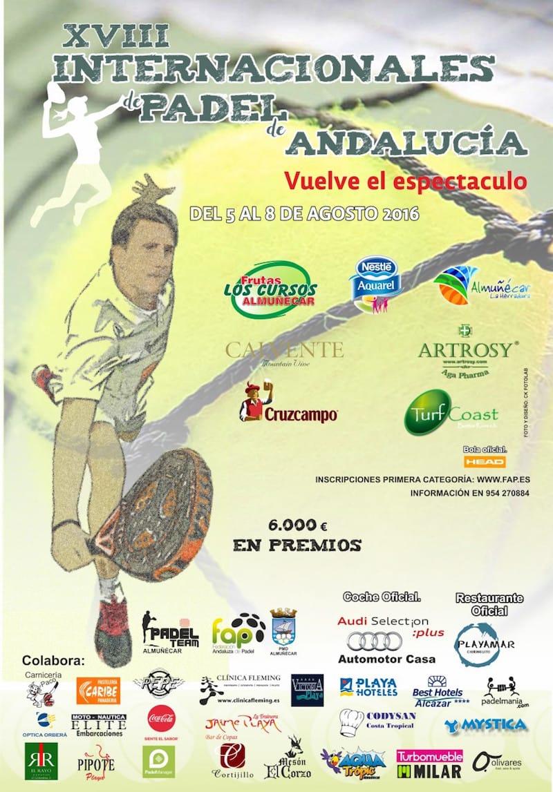 Cartel Internacionales de Andalucía Almuñécar