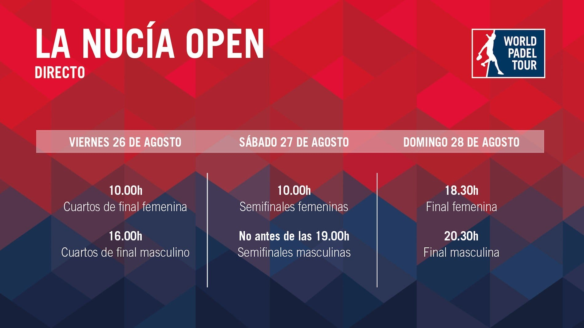 Horarios streaming WPT La Nucia