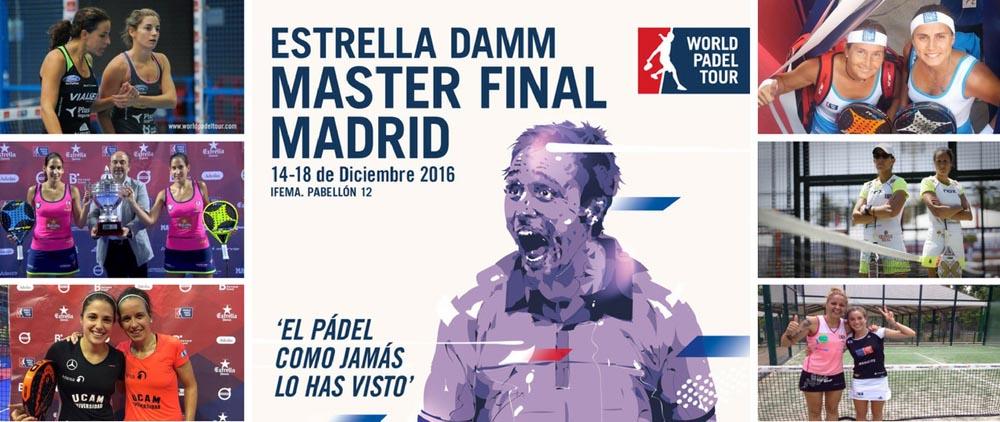 Master Final WPT 2016 femenino Parejas y ranking femenino Máster final World Padel Tour 2016