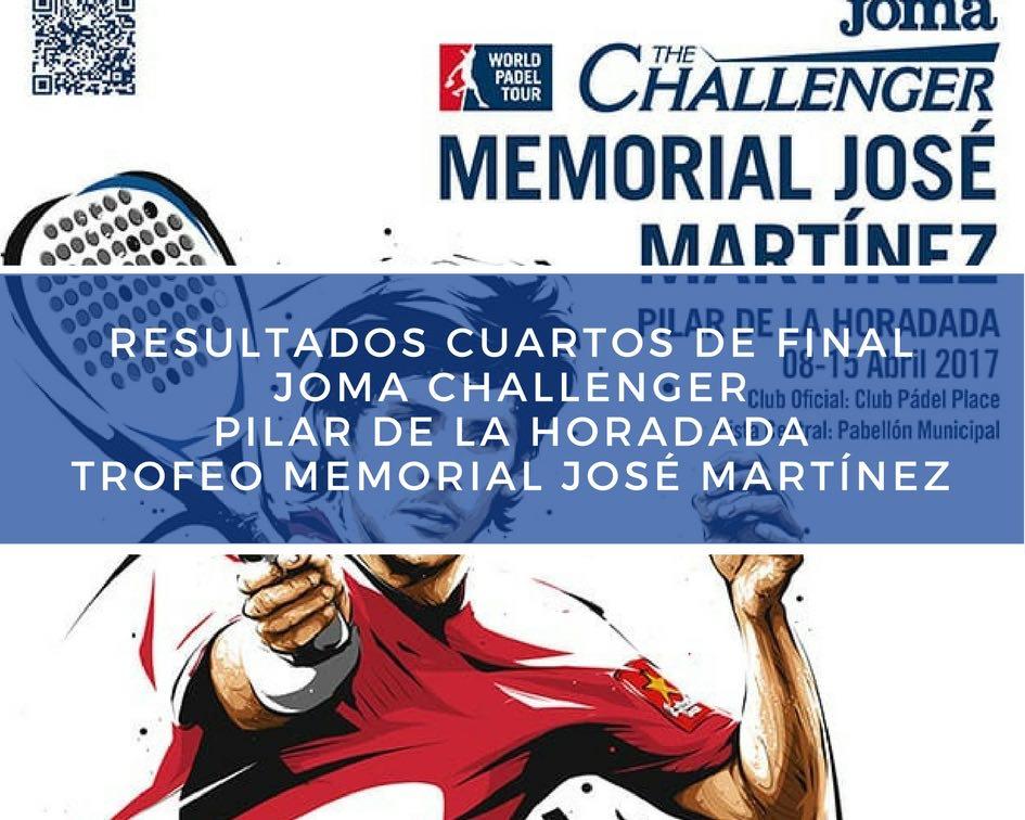 Cuartos Memorial 2017 Resultados cuartos de final Memorial José Martínez Challenger 2017