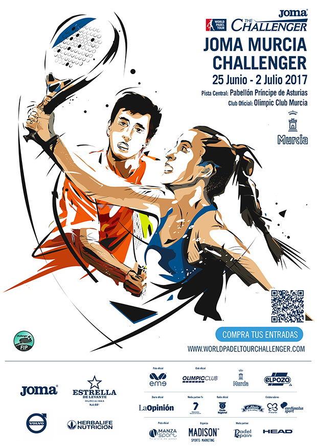 Cuadros y horarios World Padel Tour Challenger Murcia 2017