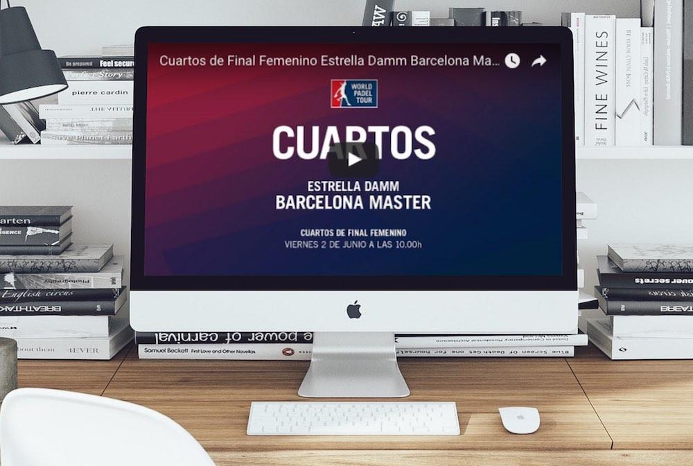 Semis femeninas Master Barcelona 2017 Cuartos femeninos Máster World Padel Tour Barcelona 2017 en directo y online