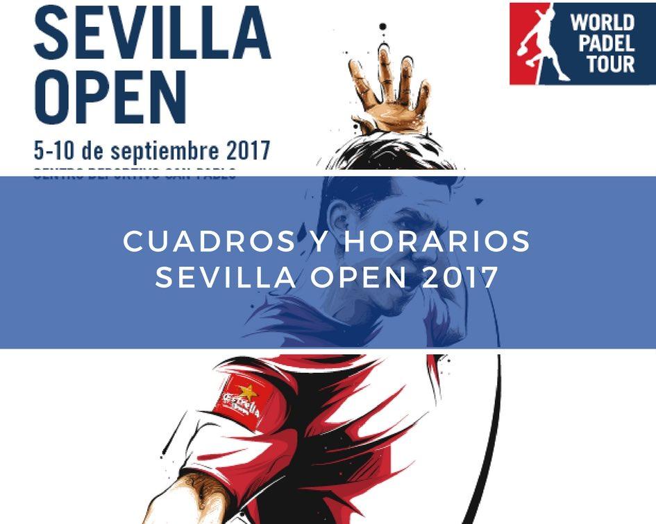Cuadros y Horarios World Padel Tour Sevilla 2017