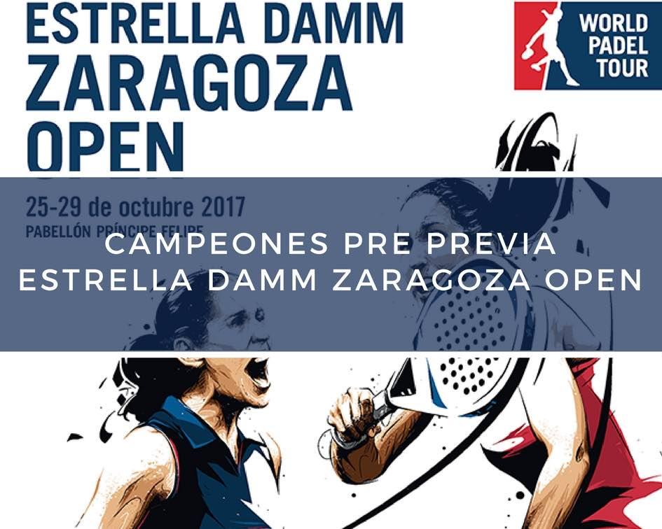 Campeones Pre Previa World Padel Tour Zaragoza 2017