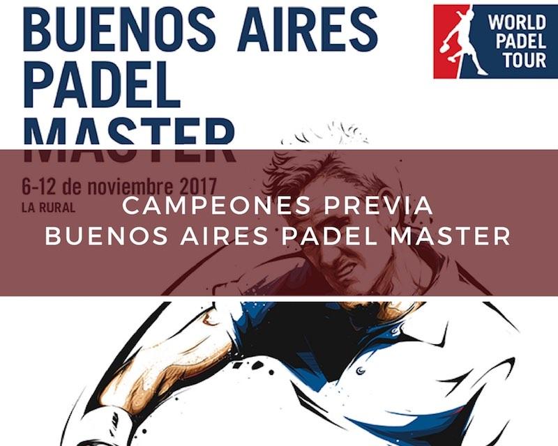 Campeones Previa española Master World Padel Tour Buenos Aires 2017