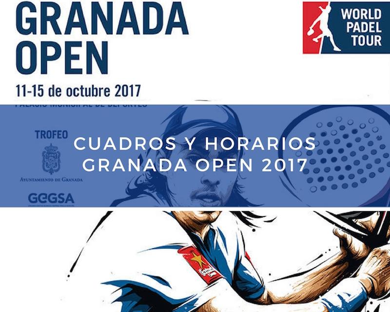 Cuadros y Horarios World Padel Tour Granada 2017