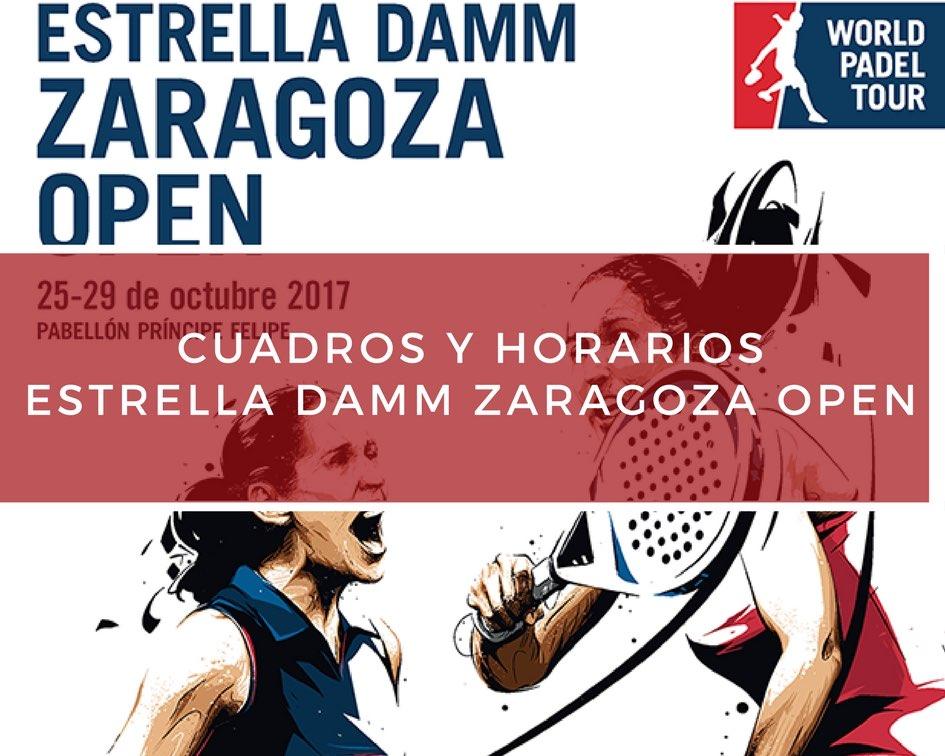 Cuadros y Horarios World Padel Tour Zaragoza 2017