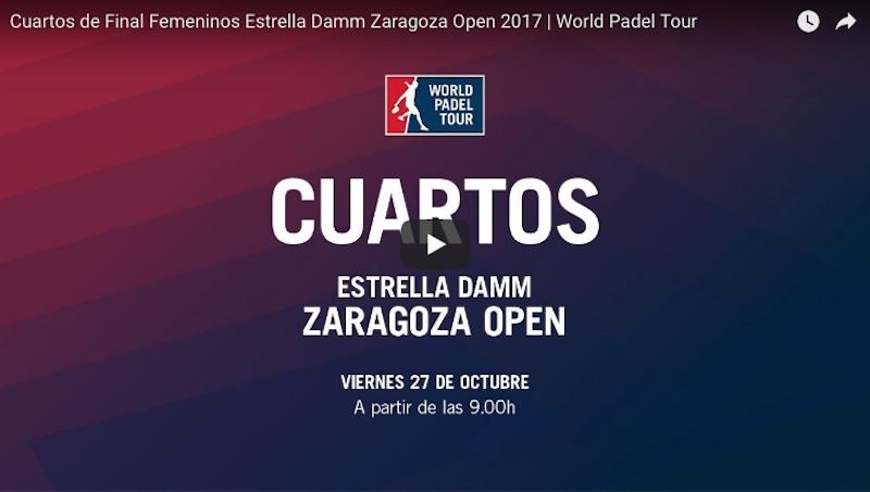 Cuartos online WPT Zaragoza 2017 Resultados cuartos de final World Padel Tour Zaragoza 2017