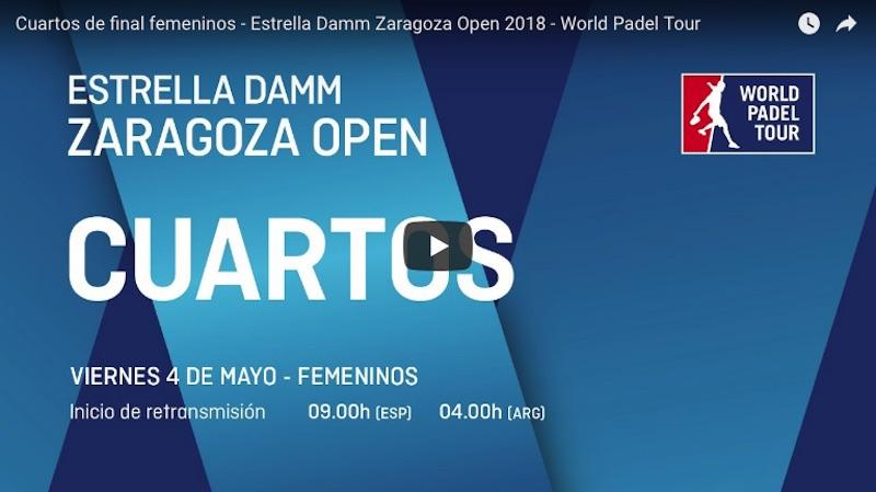 Cuartos online WPT Zaragoza 2018 Partidos completos World Padel Tour Zaragoza 2018