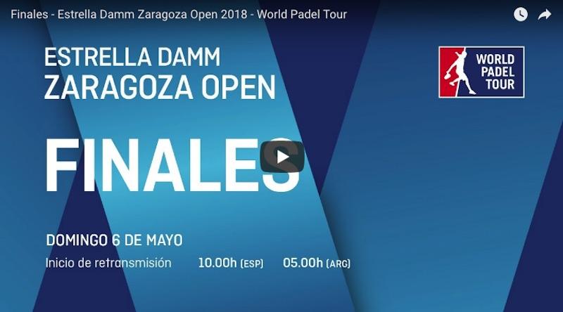 Finales World Padel Tour Zaragoza 2018 en directo y online