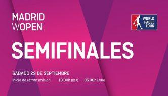 En directo y online semifinales World Padel Tour Madrid Wopen 2018