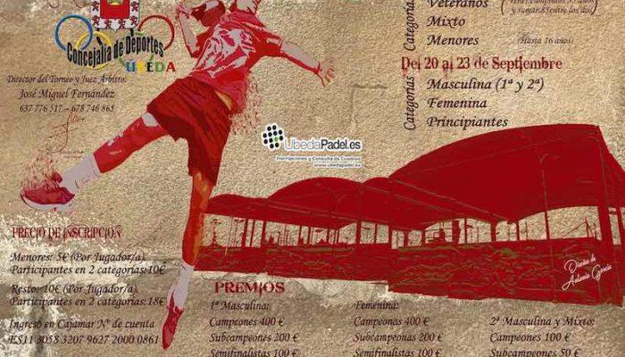 """XIX Torneo de pádel """"Ciudad de Úbeda"""""""