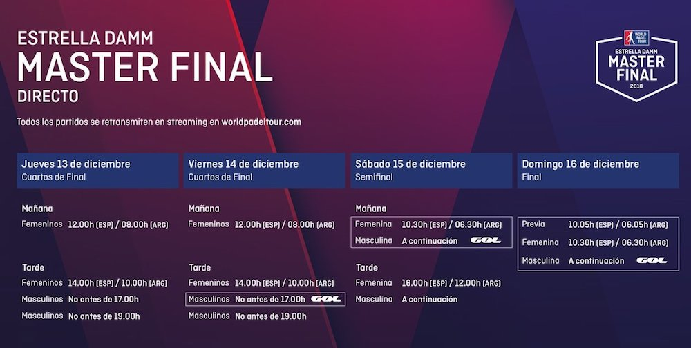 Streaming en directo Máster final WPT 2018