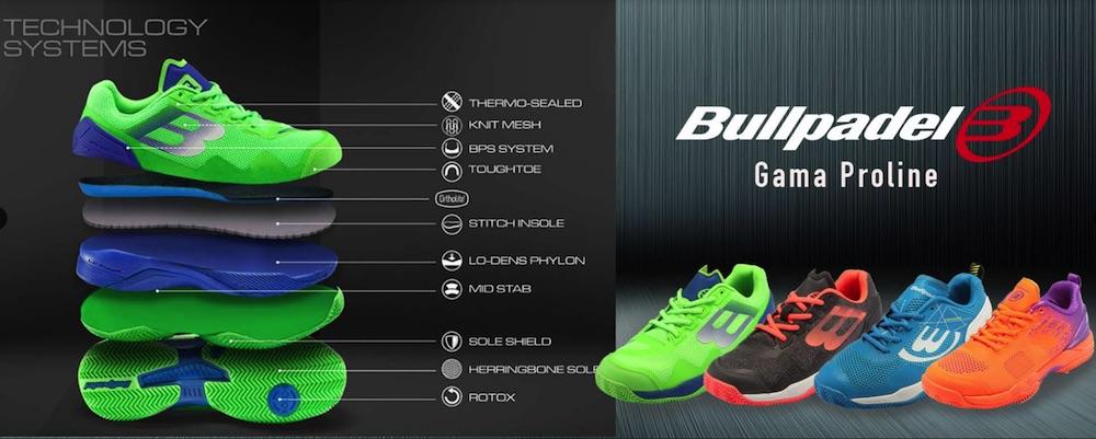 Gama Pro line Bullpadel Colección zapatillas Bullpadel 2019