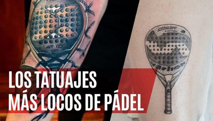Los tatuajes de pádel más locos