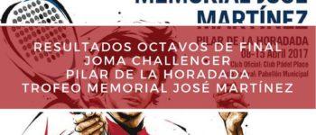 Resultados octavos de final Memorial José Martínez Challenger 2017