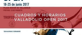 Cuadros y horarios World Padel Tour Valladolid 2017