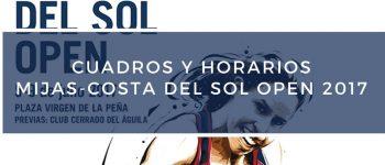 Cuadros y Horarios Cerveza Victoria Mijas-Costa Del Sol Open 2017