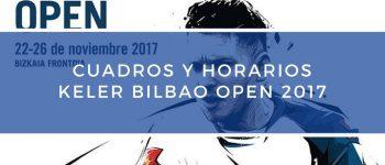 Cuadros y Horarios World Padel Tour Bilbao 2017
