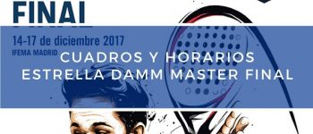 Cuadros y Horarios Máster Final World Padel Tour Madrid 2017