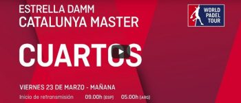 En directo Cuartos femeninos online Máster World Padel Tour Cataluña 2018
