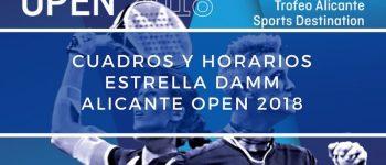 Cuadros y Horarios World Padel Tour Alicante 2018