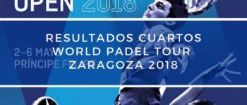 Resultados cuartos de final World Padel Tour Zaragoza 2018