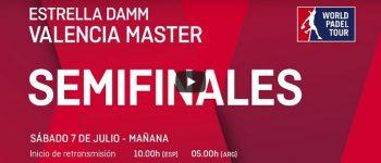 En directo y online semifinales Máster World Padel Tour Valencia 2018