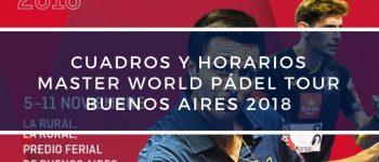 Cuadros y horarios Máster World Padel Tour Buenos Aires 2018