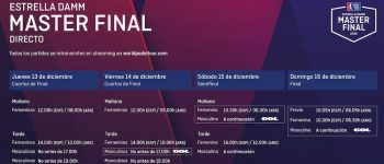 Cuadros y Horarios Máster Final World Padel Tour Madrid 2018
