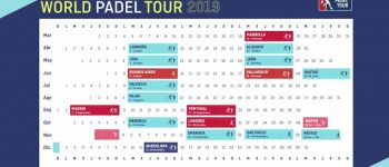 Calendario temporada World Padel Tour 2019
