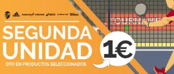La tienda Street Padel tiene la segunda unidad a un euro